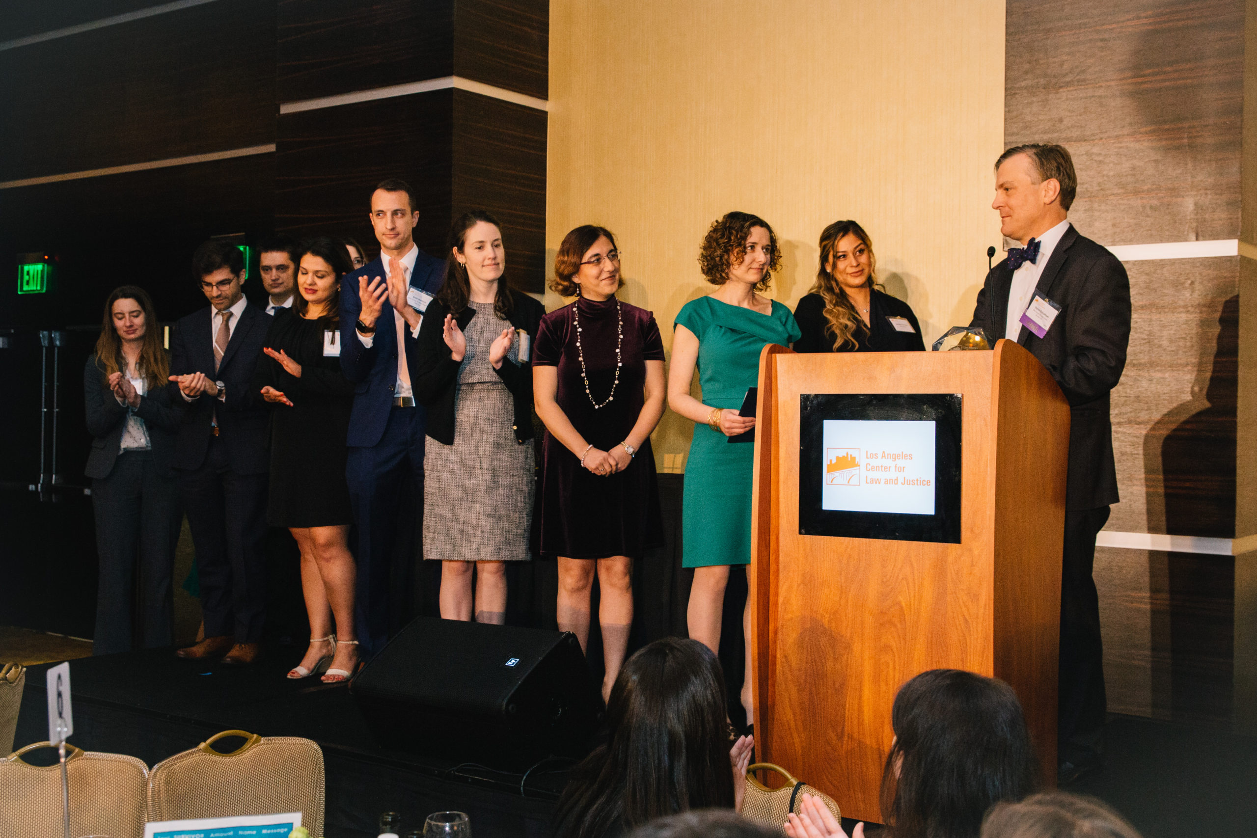 Akin Gump Employees speaking at the 2019 Gala
